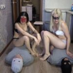 2 slaves VS 2 mistresses. Sport competitions! with MilanaSmelly eat shit [FullHD / 2020]