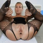 Petite Blonde Monster Shit In Fishnets/Gape/Farts Anal Porn [FullHD]
