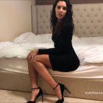 Heels black dress worship bedroom piss and poop with TinaAmazon